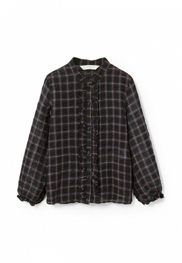 Фото - блузку или рубашку для девочки Mango Kids черного цвета