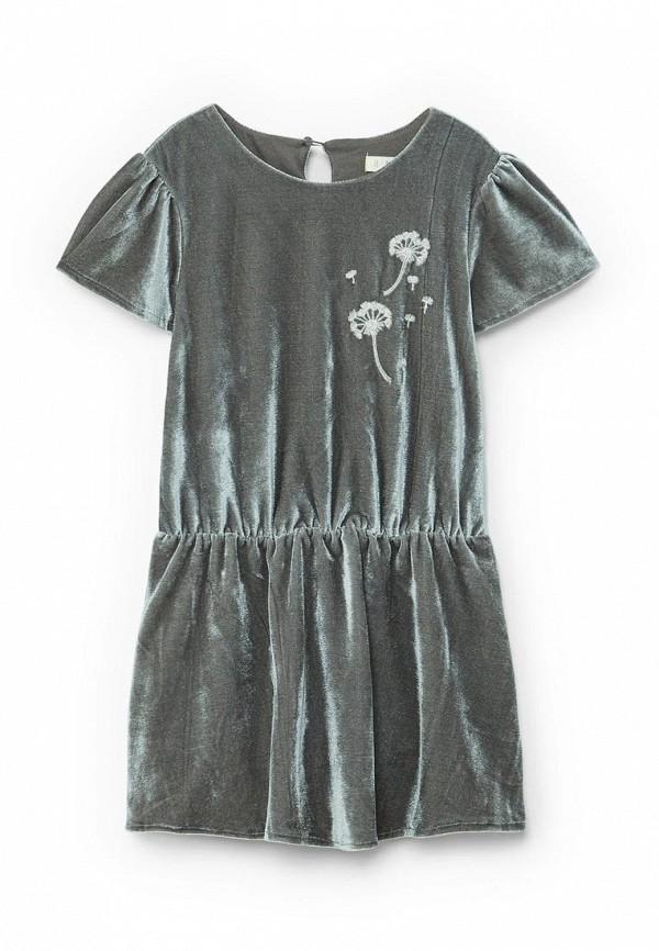Фото - Платье Mango Kids серого цвета