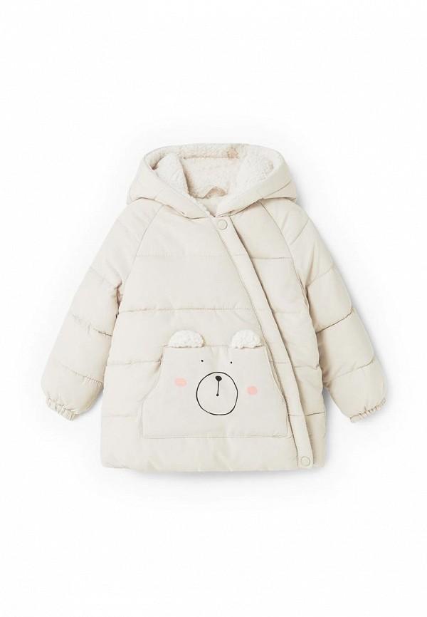 Фото - Куртку утепленная Mango Kids белого цвета
