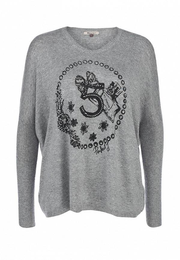 Пуловер Many Why. Цвет: серый