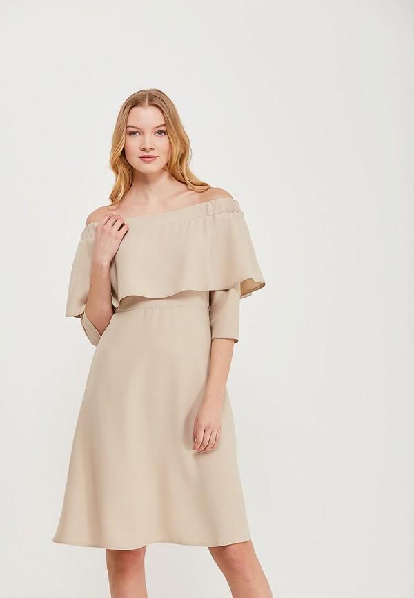 Платье Massimiliano Bini, MA093EWAMNK2, бежевый, Весна-лето 2018  - купить со скидкой