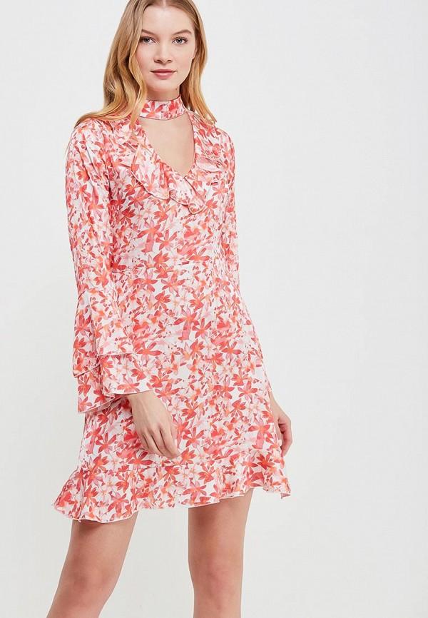 Купить Платье Massimiliano Bini, MA093EWAMNM8, коралловый, Весна-лето 2018