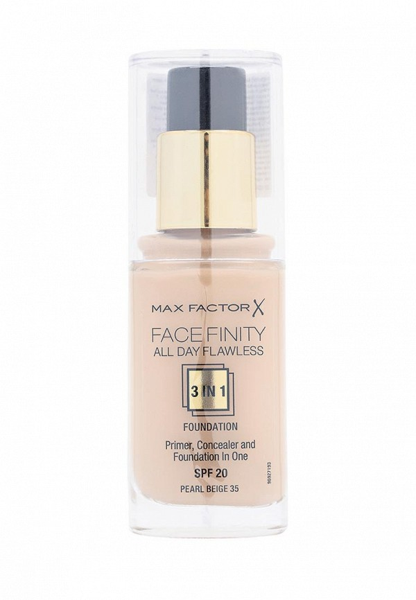 Здесь можно купить Тональная Facefinity All Day Flawless 3-in-1 35 тон pearl beige  Основа Max Factor Тон и основа