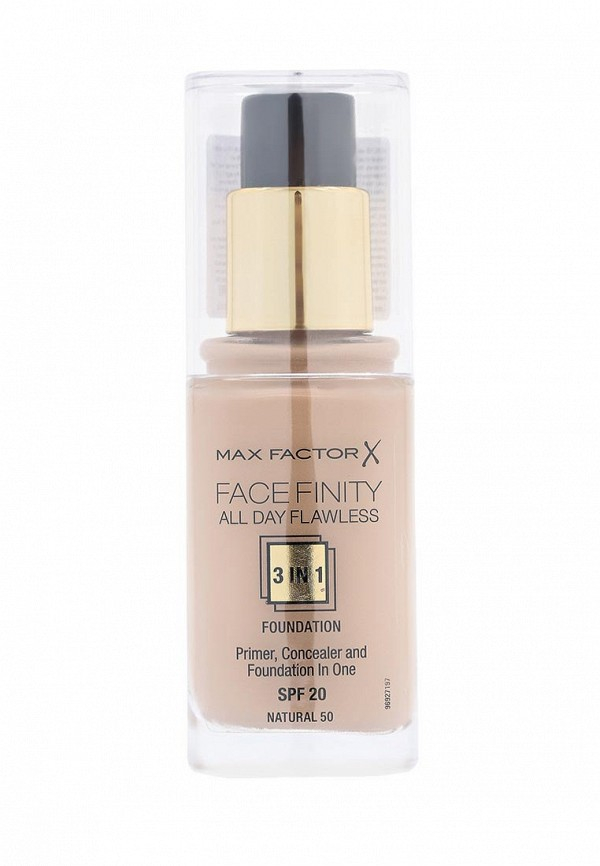 Основа Max Factor Тональная Facefinity All Day Flawless 3-in-1  50 тон natural