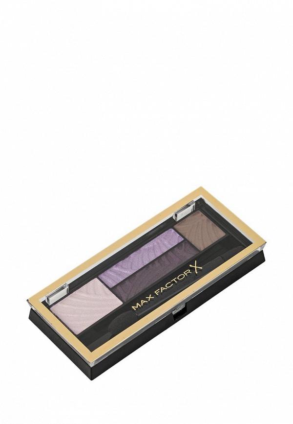 Тени Max Factor 4-х цветные Для Век И Бровей  Smokey Eye Drama Kit 2 В 1 Тон 04 luxe lilacs