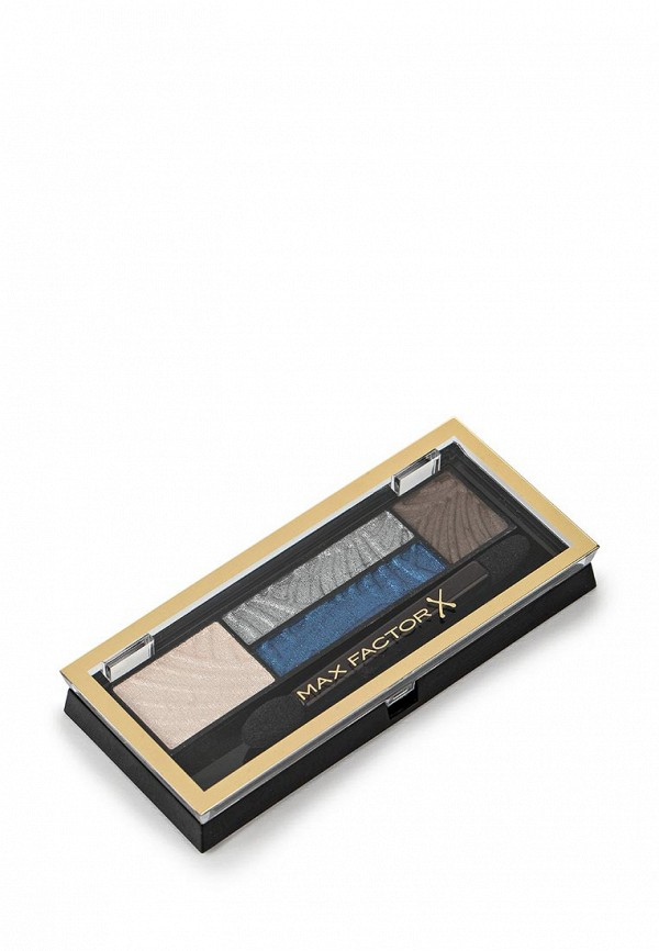 Тени Max Factor 4-х цветные Для Век И Бровей  Smokey Eye Drama Kit 2 В 1 Тон 06 azzure allure