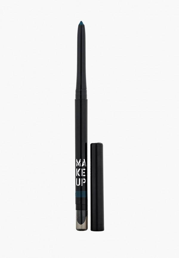 Купить Карандаш для глаз Make Up Factory, Автоматический контурный Automatic Eyeliner тон 14 интенсивный зелено-голубой, MA120LWHDR39, бирюзовый, Весна-лето 2018