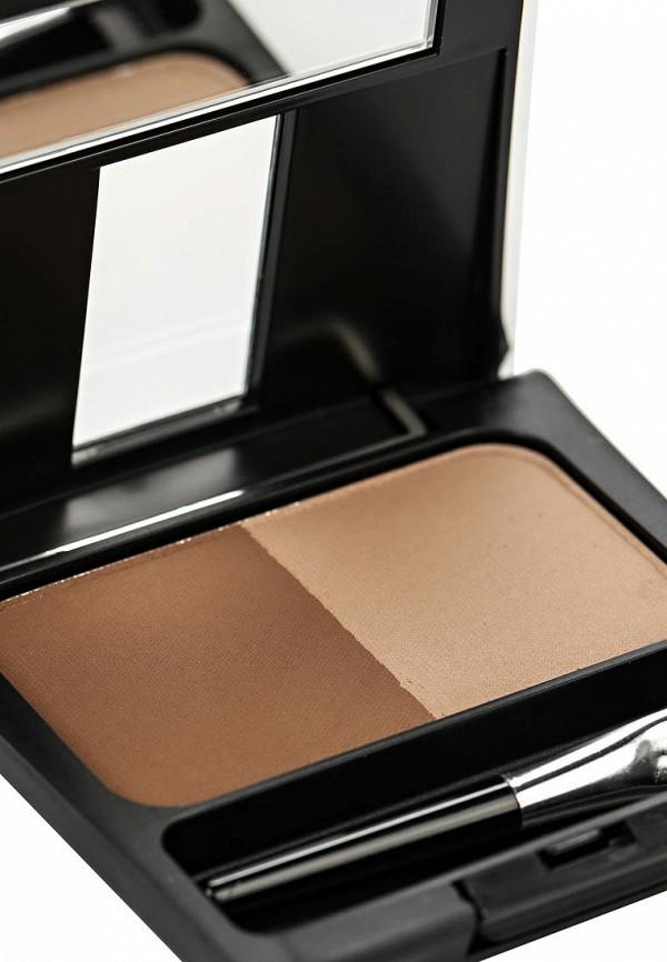 Тени-пудра Make Up Factory для бровей с трафаретом  Eye Brow Powder тон 4 кофейно-коричневый