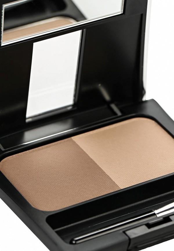 Тени-пудра Make Up Factory для бровей с трафаретом  Eye Brow Powder тон 6 коричневый какао
