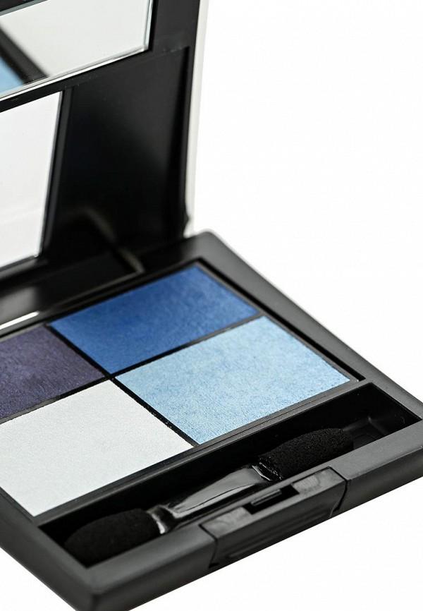 Тени Make Up Factory 4-х цветные для глаз Eye Colors тон 43 тёмно синий, синий, голубой, светло голубой