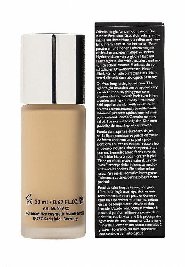 Тональный крем Make Up Factory Матовый для нормальной и жирной кожи Oil-free Foundation тон 02 атласная кожа
