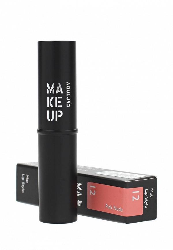 Помада для губ Make Up Factory Матовая Mat Lip Stylo т.12 Розовый нюд