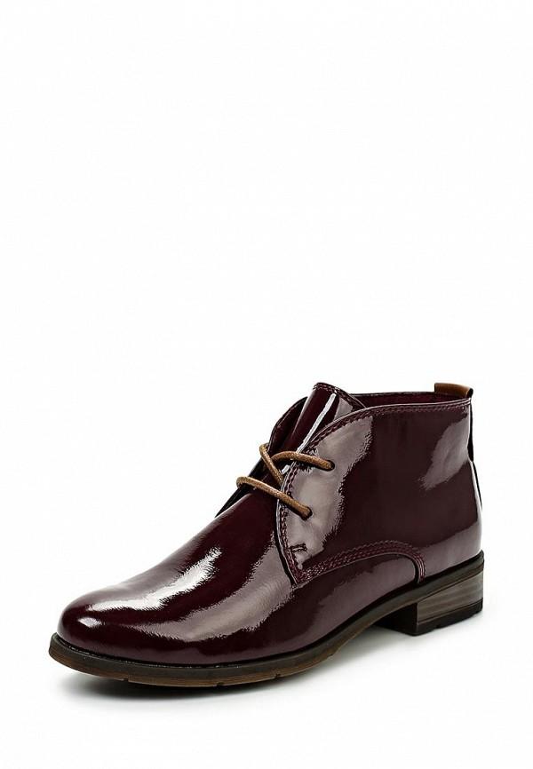 Женские бордовые осенние кожаные ботинки