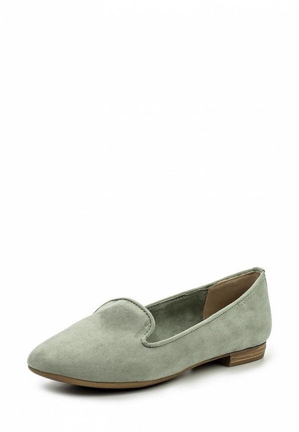 Женские зеленые текстильные туфли лоферы