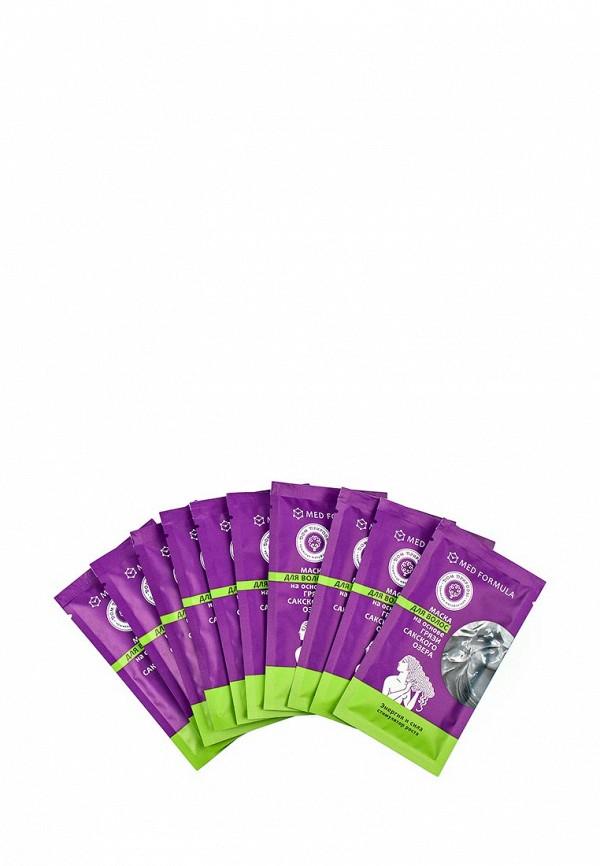 Набор масок 10 шт. Мануфактура Дом Природы для волос  Энергия и сила на основе грязи Сакского озера (стимулятор роста), на основе Сакской грязи 10 саше