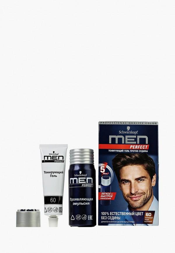 Купить Краска для волос Men Perfect, Тонирующий гель для мужчин Средне-каштановый 60, 80 мл, ME027LMJQF42, Весна-лето 2018