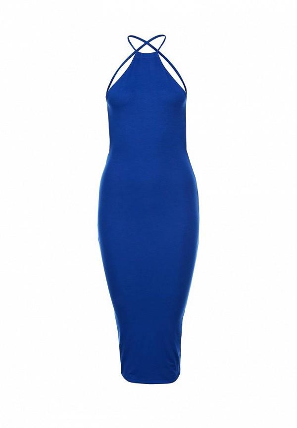 Платье-миди MISSGUIDED Cross Back Bodycon Midi Dress In Cobalt