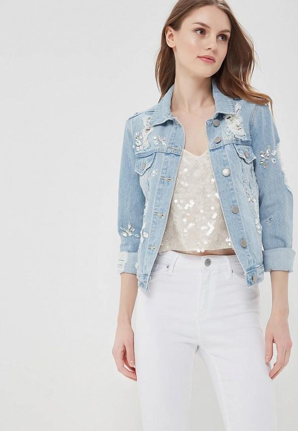 Куртка джинсовая Miss Selfridge Miss Selfridge MI035EWBEJV1 куртка утепленная miss selfridge miss selfridge mi035ewwsw47