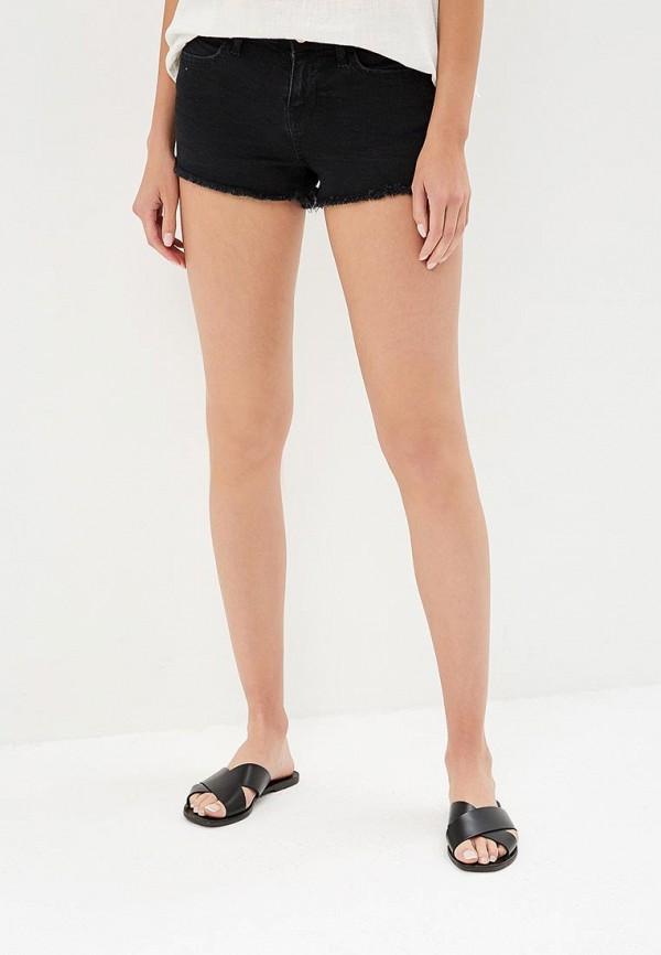 Шорты джинсовые Miss Selfridge, MI035EWBOQA8, черный, Весна-лето 2018  - купить со скидкой
