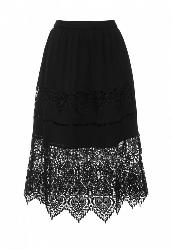 Прямая юбка Miss Selfridge 10S08TBLK