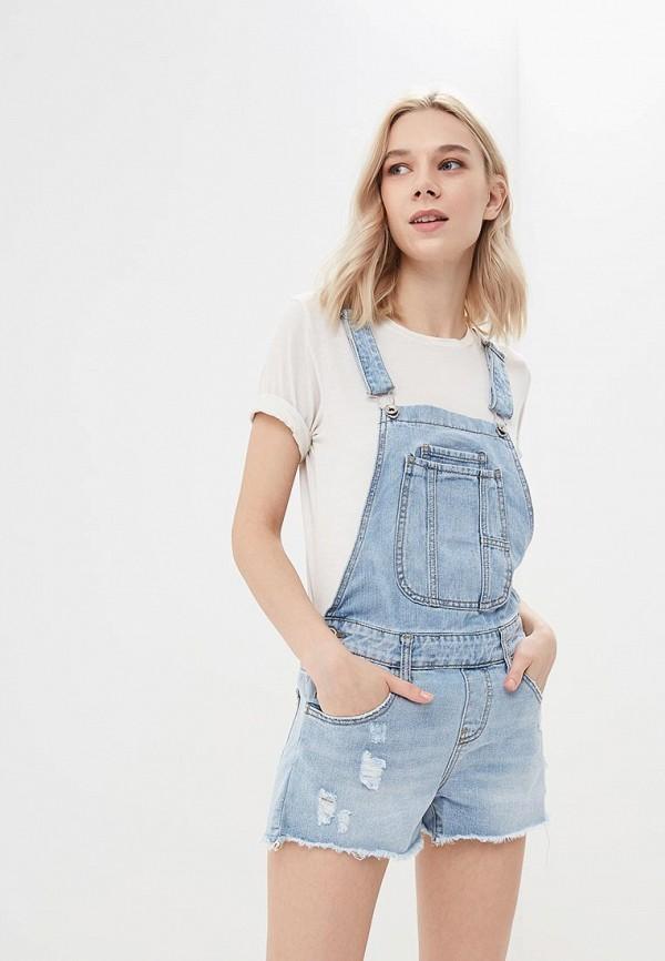 Комбинезон джинсовый Miss Bon Bon Miss Bon Bon MI045EWBDVW5 жилет джинсовый miss bon bon miss bon bon mi045ewarrs3