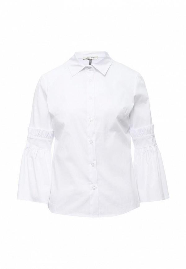 Блуза Miss by Valentina. Цвет: белый