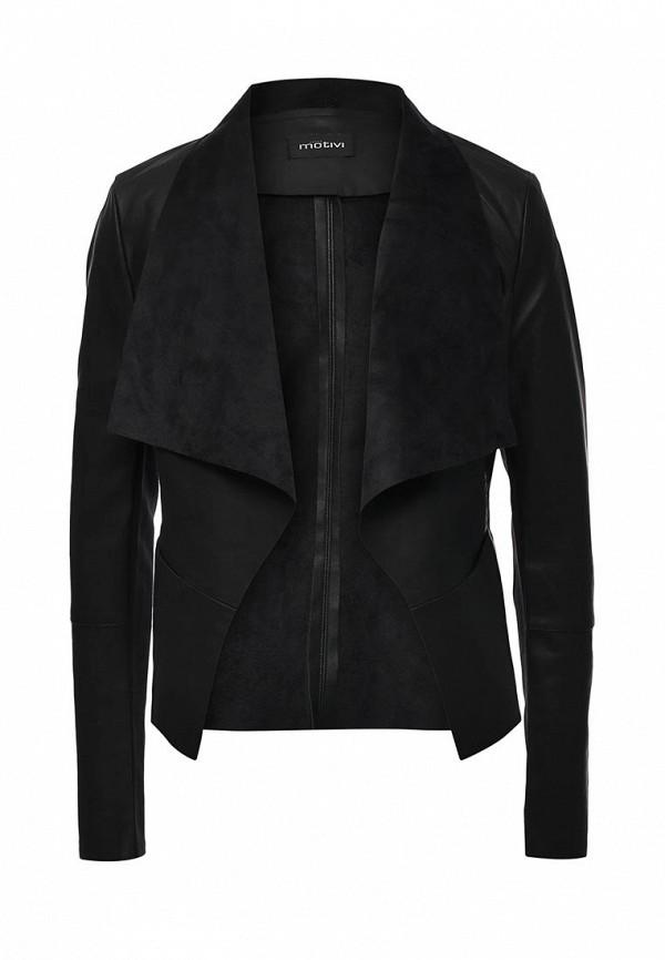 Купить Куртку кожаная Motivi черного цвета