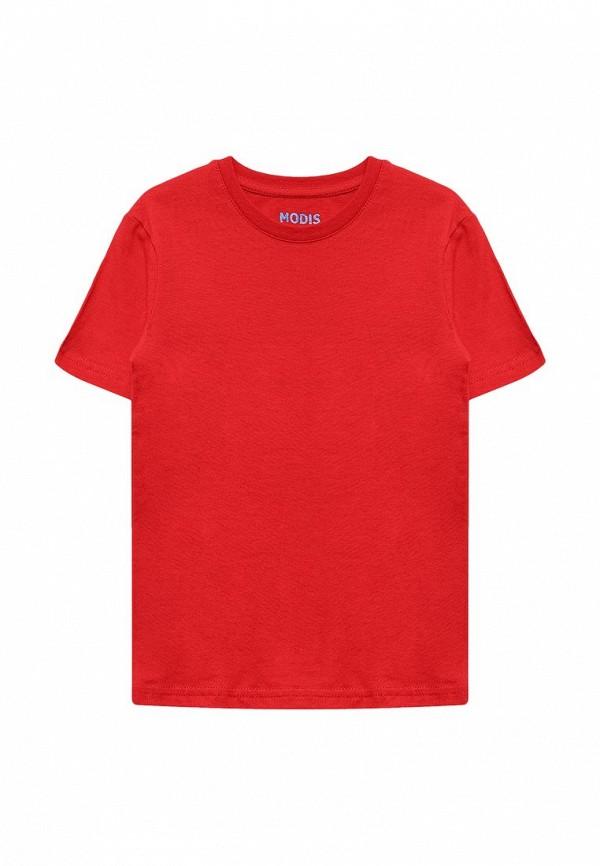 Футболка Modis. Цвет: красный