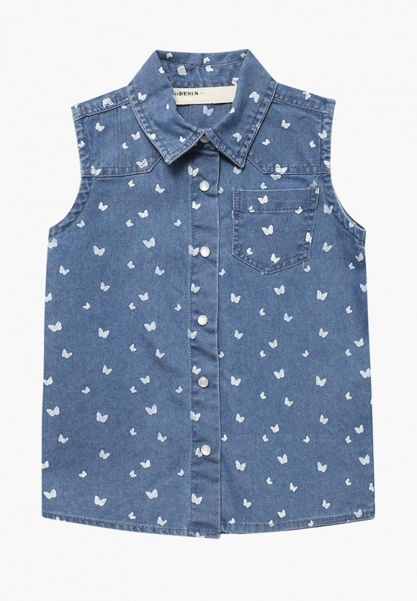 Купить Рубашка джинсовая Modis, MO044EGBDRI2, синий, Весна-лето 2018