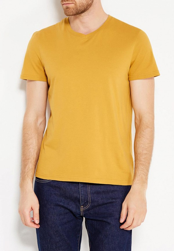 Фото - мужскую футболку Modis желтого цвета