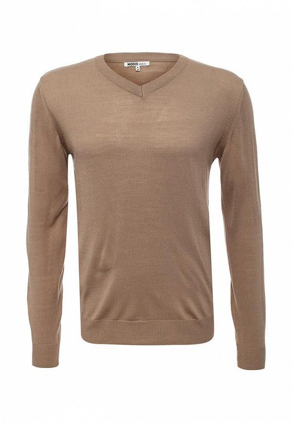 Пуловер Modis. Цвет: коричневый