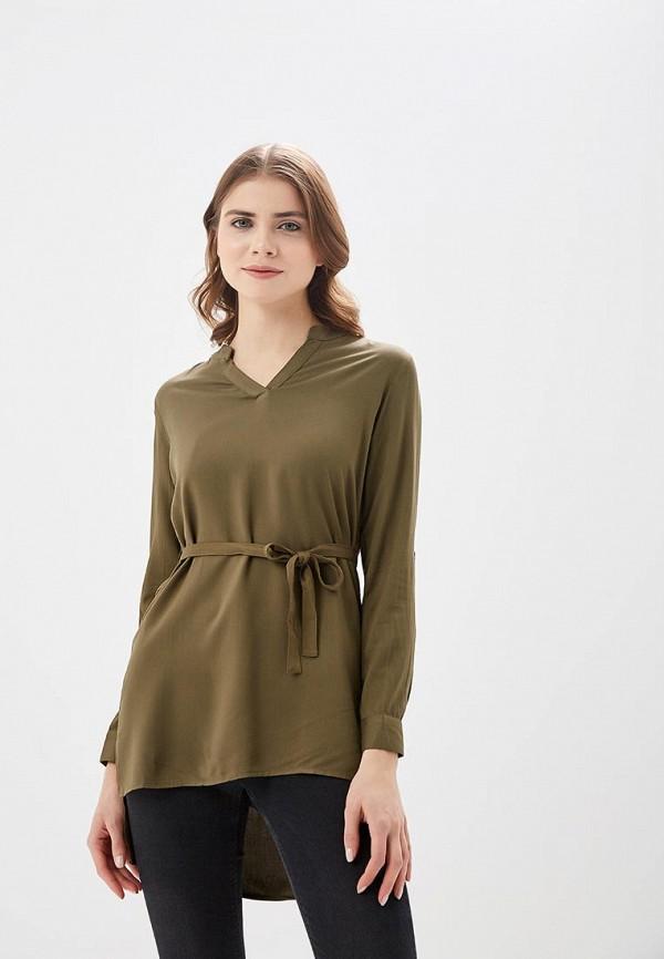 Купить Блуза Modis, MO044EWBATM5, хаки, Весна-лето 2018