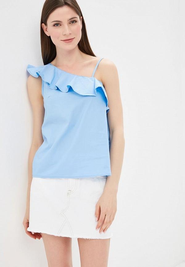 Купить Блуза Modis, MO044EWBKIJ4, голубой, Весна-лето 2018
