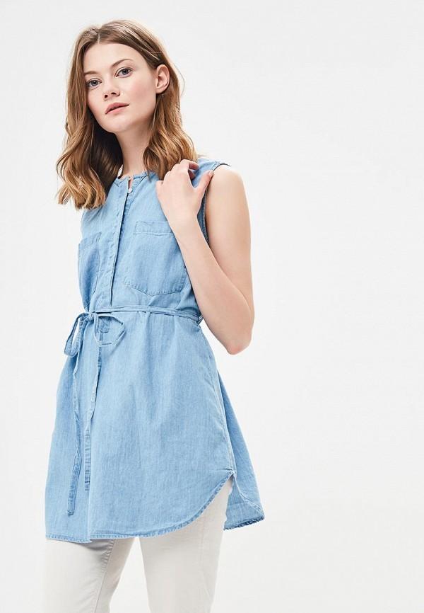 Купить Блуза Modis, MO044EWBLNV8, голубой, Весна-лето 2018