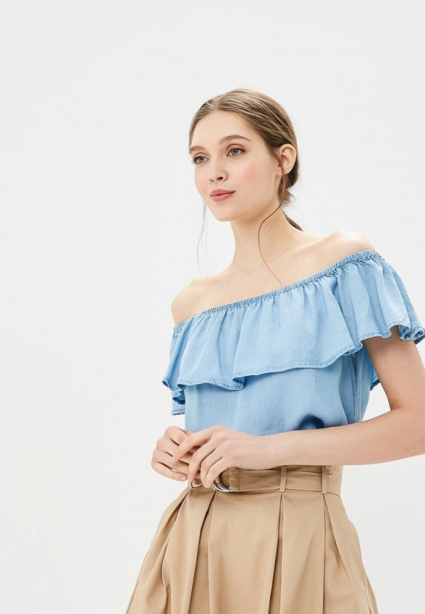 Купить Блуза Modis, MO044EWBNWB3, голубой, Весна-лето 2018