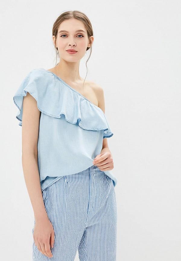 Купить Блуза Modis, MO044EWBNWB6, голубой, Весна-лето 2018