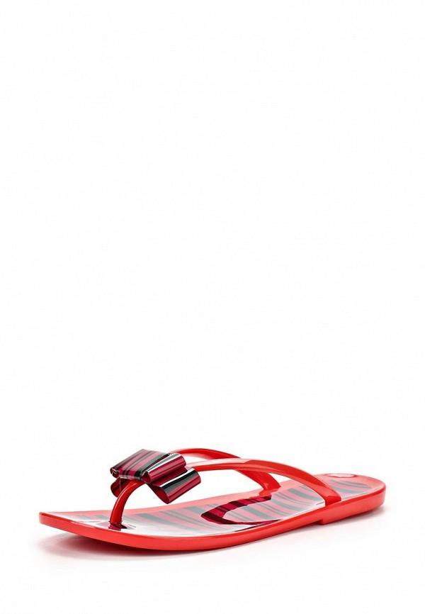 Женские красные летние шлепанцы