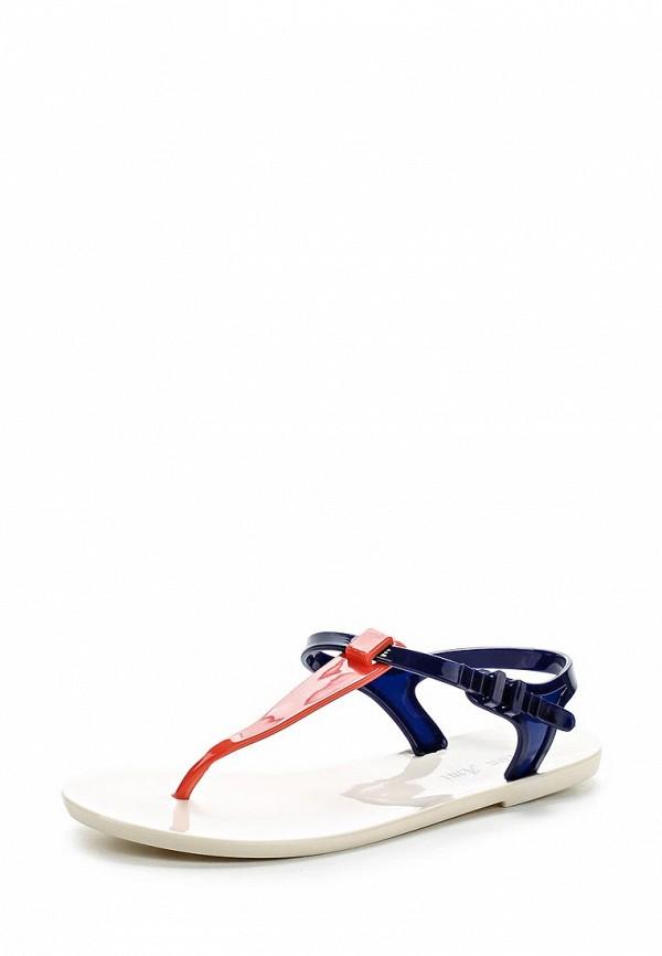 Женские белые синие сандалии