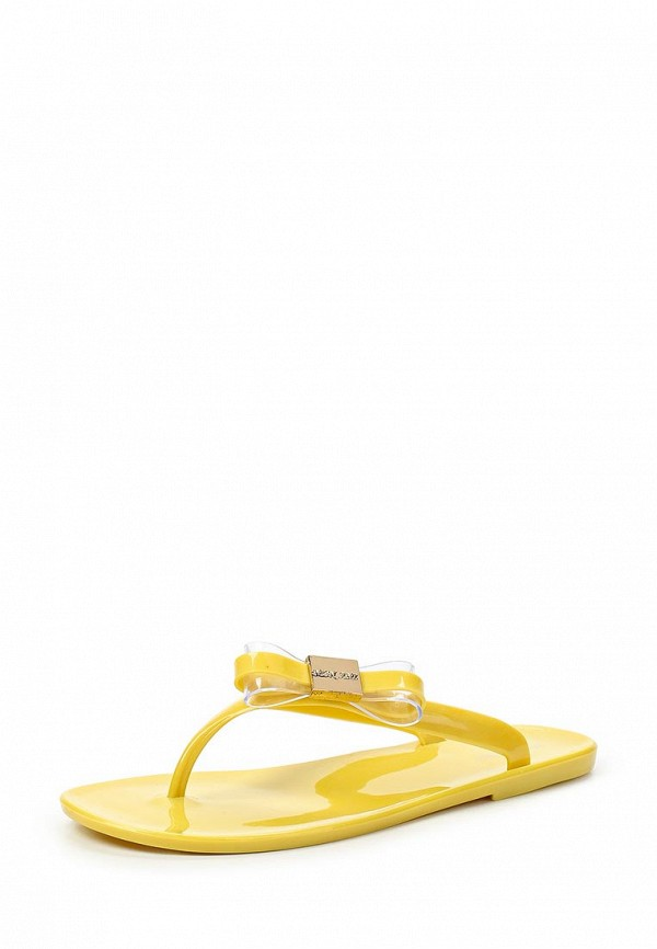 Женские желтые шлепанцы Mon Ami