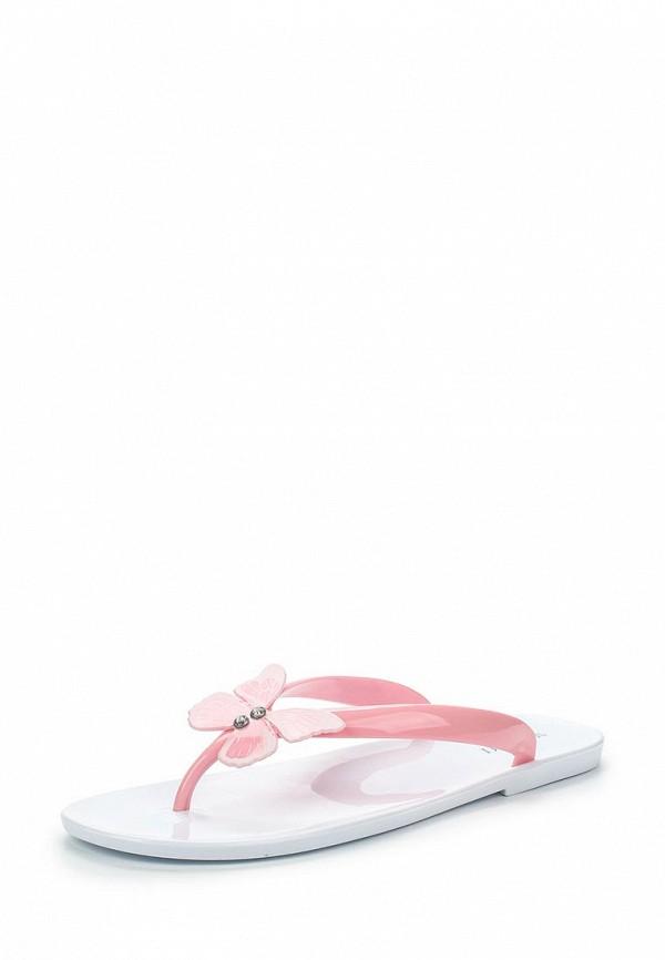 Женские розовые летние шлепанцы