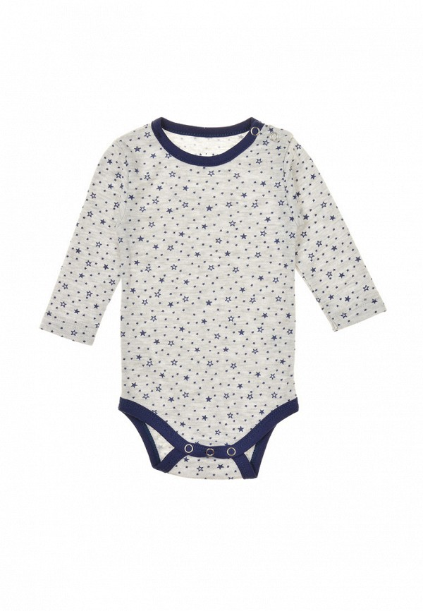 Фото 3 - Комплект боди 2 шт. Фламинго текстиль серого цвета