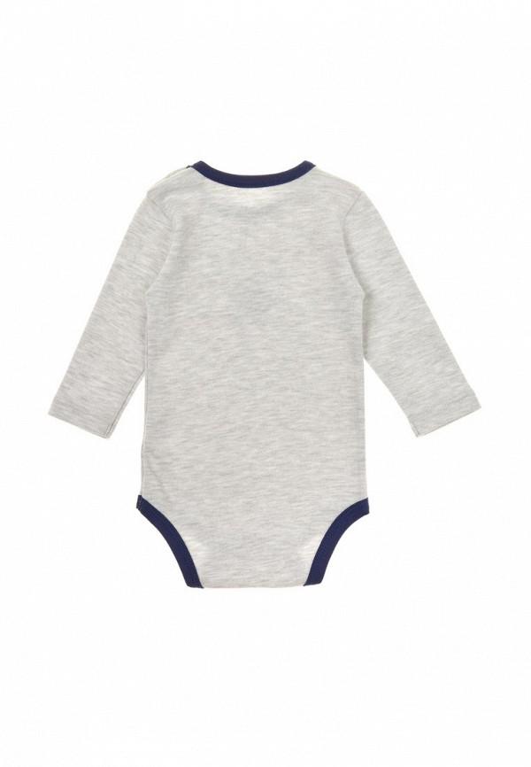 Фото 4 - Комплект боди 2 шт. Фламинго текстиль серого цвета
