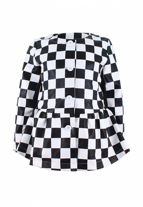 Купить пальто или плащ для девочки Irby Style черно-белого цвета