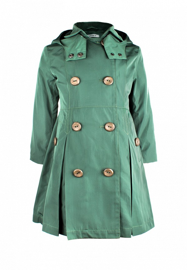Купить пальто или плащ для девочки Irby Style зеленого цвета