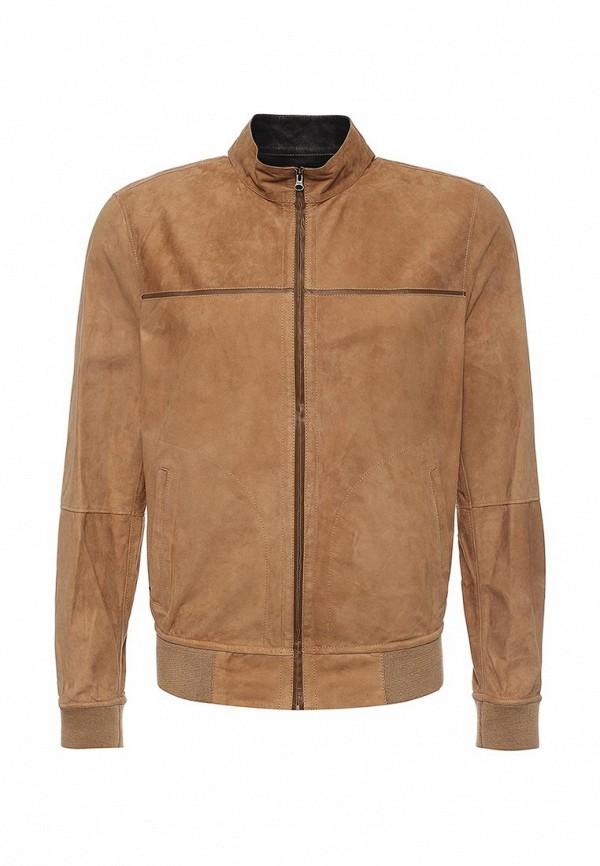 Куртка кожаная Mondial. Цвет: бежевый