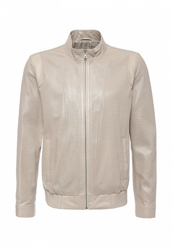 Кожаная куртка Mondial. Цвет: бежевый