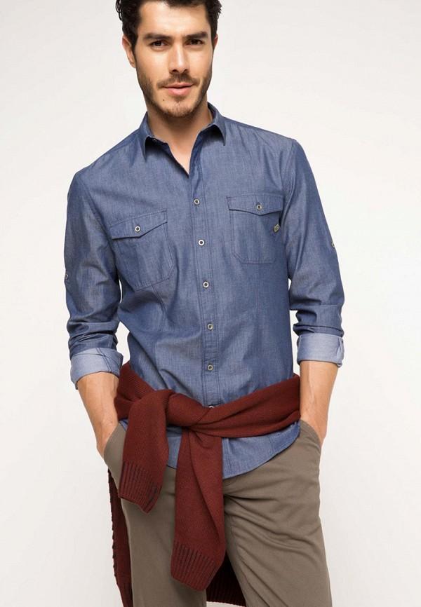 Рубашка джинсовая DeFacto DeFacto MP002XM0VZTN рубашка defacto defacto mp002xm0vztf