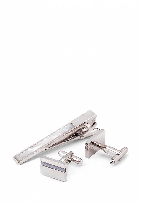 Комплект зажим для галстука и запонки Greg Greg MP002XM0W5R8 запонки greg greg mp002xm24n69
