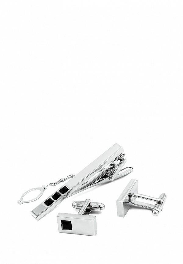 Комплект зажим для галстука и запонки Greg Greg MP002XM0W5RV запонки greg greg mp002xm24n69