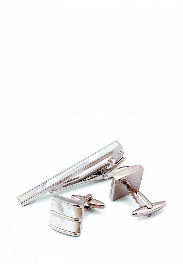 Комплект зажим для галстука и запонки Greg Greg MP002XM0W5RY запонки greg greg mp002xm24n69